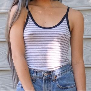 Brandy Melville blue striped tank top